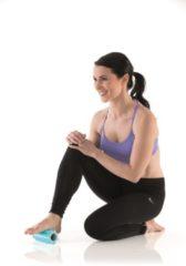 Blauwe Gymstick Active Halve Foam Roller - Massage Roller - 15 cm - Met Online Trainingsvideo's