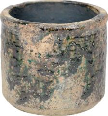 Rasteli Bloempot Groen-Beige-Gemêleerd D 17.5 cm H 15.5 cm