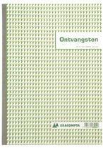 """Zelfkopiërend doorschrijfboek Exacompta """"kasontvangst"""" Nederlandstalig 210 x 297 mm"""