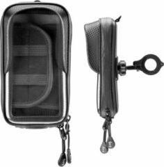 Zwarte Interphone - Unicase Master 5.8 inch Telefoonhouder Fiets en Motor Stuur (max. 155x80mm)