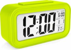 JustAnotherProduct JAP Clocks AC18 digitale wekker - Alarmklok - Inclusief temperatuurmeter - Met snooze en verlichtingsfunctie - Groen