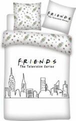 Friends Dekbedovertrek Skyline - Lits Jumeaux - 240 X 220 Cm - Wit
