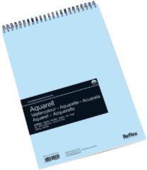 Witte Schoellershammer Reflex studioline aquarelpapier, 300gr, A3 spiraalblok, 30 vel