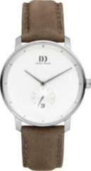 Grijze Danish Design watches titanium herenhorloge Donau Taupe White IQ14Q1279