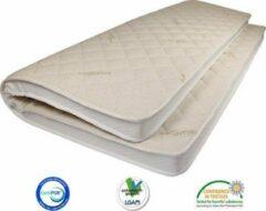 Gebroken-witte Matrassenmaker - Topmatras Organisch Katoen 80x220 Traagschuim V50 topper