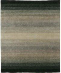 MOMO Rugs - Panorama Black Grey Vloerkleed - 60x90 cm - Rechthoekig - Laagpolig Tapijt - Design, Modern - Grijs, Zwart