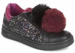 Zwarte Lage Sneakers Geox J DJROCK GIRL