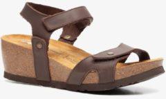 Hush Puppies leren dames bio sandalen met sleehak - Bruin - Maat 37