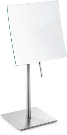 Afbeelding van Roestvrijstalen Zack Xero - Make-up spiegel - Badkamerspiegel - Cosmeticaspiegel - RVS - 5x vergrotend