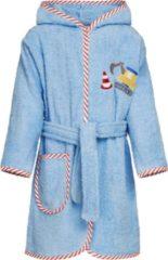 Playshoes - Badjas voor jongens - Bouwplaats - Lichtblauw - maat 98-104cm