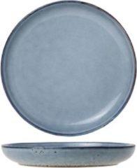 Cosy&Trendy LOUIS Grijze Dessertborden in porselein - D22cm - Aardewerk - (Set van 6) En Yourkitchen E-kookboek - Heerlijke Smulrecepten