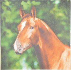 Bruine Esschert Design Servetten Paard 16,5 X 16,5 Cm Papier 20 Stuks