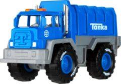 Tonka vuilniswagen junior staal blauw/grijs