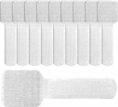LTC Klittenband kabelbinders met plakstrip / wit (10 stuks)