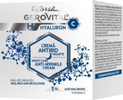 Gerovital Anti-rimpel Nachtcreme met Hyaluronzuur serum en Vitamine C , 50 ml
