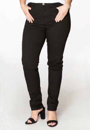 Afbeelding van Yoek | Grote maten - dames jeans skinny high waist - zwart