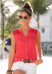 Rode S.OLIVER RED LABEL Beachwear top met glitterdetail