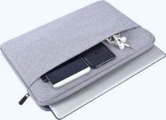 MoKo H521 aktetas Laptop Schoudertas 15.4 inch Notebook Tas - Hoes Multipurpose voor Laptop en Macbook Sleeve - grijs