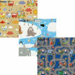 Enper Assortiment inpakpapier cadeaupapier voor kinderen 9 - 3 rollen