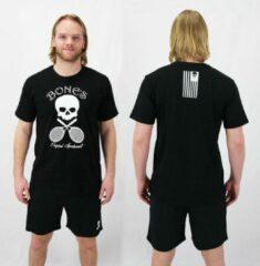 Zwarte Bones Sportswear Cotton Unisex T-shirt Black maat M