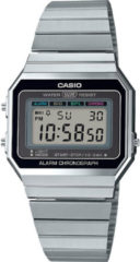 Zilveren Casio horloges Casio Collection A700WE-1AEF - Digitaal horloge