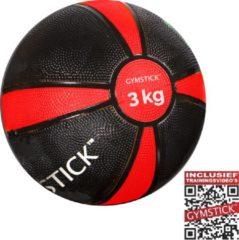 Gymstick - Medizinball - Functional training maat 3 kg, zwart/rood