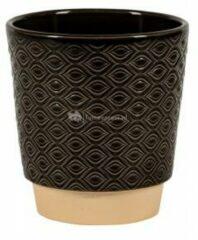 NDT International Pot Odense Eye Black S 13x14 cm zwarte ronde bloempot voor binnen