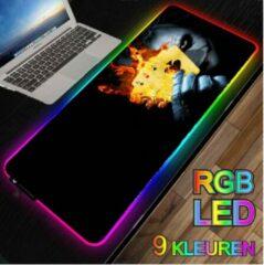 M-Glider RGB LED -- Muismat -- The Joker 4x Azen -- 40x90Cm -- LED Verlichting - Gaming muismat XXL -- Waterproof -- Mouse pad -- Batman -- The Dark Knight