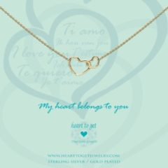 Heart to get N244ENH15G Ketting My heart belongs to you zilver goudkleurig