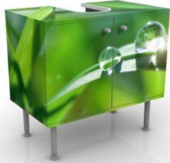 PPS. Imaging Waschbeckenunterschrank - Green Ambiance II - Blumen Badschrank Grün