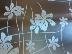 Merkloos / Sans marque Decoratieve raamfolie   bloemen motief   zelfklevend   68 x 300   krasvast   uniek design