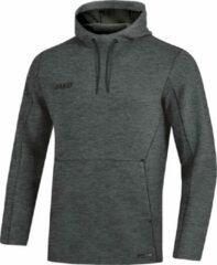 Grijze Jako Sweater met Capuchon Premium Basics Antraciet Gemeleerd Maat XL