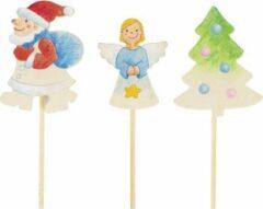 Goki Houten Bloempotsteker Kerstmis 33 Cm Set 6 Stuks