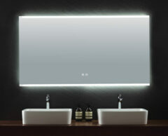 B-Stone Enfin spiegel met LED-verlichting en spiegelverwarming 140x70cm