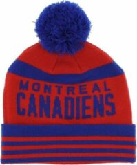 Mitchell & Ness ONFIELD CUFF KNIT MONTREAL MAROONS Zwart;Rood maat One size