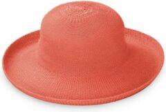 Emthunzini Hats Zonnehoed dames Breton Style ER35C - koraal - 58 cm