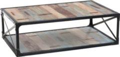 CLP Couch-Tisch PATERA, 130x84 cm, Höhe 44 cm, Industrialstil, Tisch aus recyceltem Holz und Metall