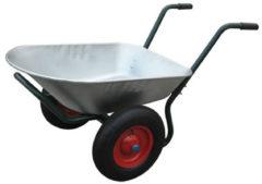 Zilveren Vidaxl Kruiwagen Met Twee Wielen 66 L