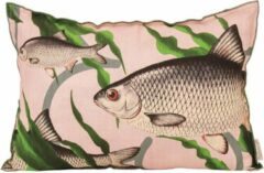 Roze Kussen fishes together pink |40x60cm.|Imbarro Home & Fashion