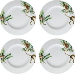 Catchii 4 x Dinerbord 27 cm Jungle Stories Aapjes