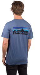 Blue Patagonia m's p-6 logo organic t-shirt