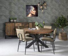 Zwarte Livingfurn | Eettafel | Dakota | rond | 150 cm