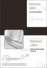 Laken Katoen Elegance - donker bruin (Donker Bruin, 240x275)