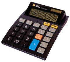 Bureaurekenmachine Twen J 1010 Zwart Aantal displayposities: 10 werkt op zonne-energie, werkt op batterijen (b x h x d) 112 x 40 x 141 mm