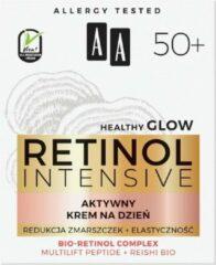 AA Retinol Intensive 50+ aktywny krem na dzień Redukcja Zmarszczek + Elastyczność Multilift Peptide & Reishi Bio 50ml