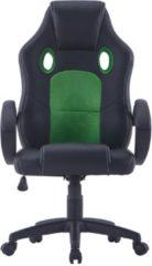 Zwarte VidaXL Gamingstoel kunstleer groen