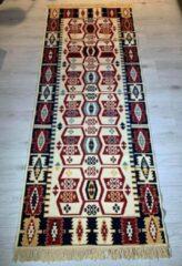 Sunar Home Kelim vloerkleed Sorkun - Kelim kleed - Kelim tapijt - Oosterse vloerkleed - Kilim - Loper- 80x200 cm