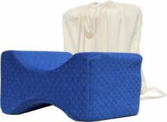 Blauwe Joyage Ergonomisch Beenkussen voor in bed - Orthopedisch Kniekussen - Zijslaap Kussen - Ergonomisch Kniekussen