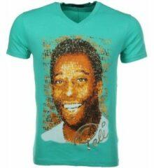Groene T-shirt Korte Mouw Mascherano T-shirt Pele