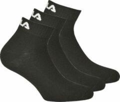 Fila Quarter Plain Enkelsokken - 3 pack - Zwart - maat 39-42 - 3x 3pack - 9 stuks